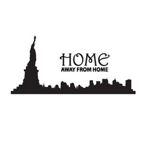 New York City, Home Away From Home Vinyl Wall Decal
