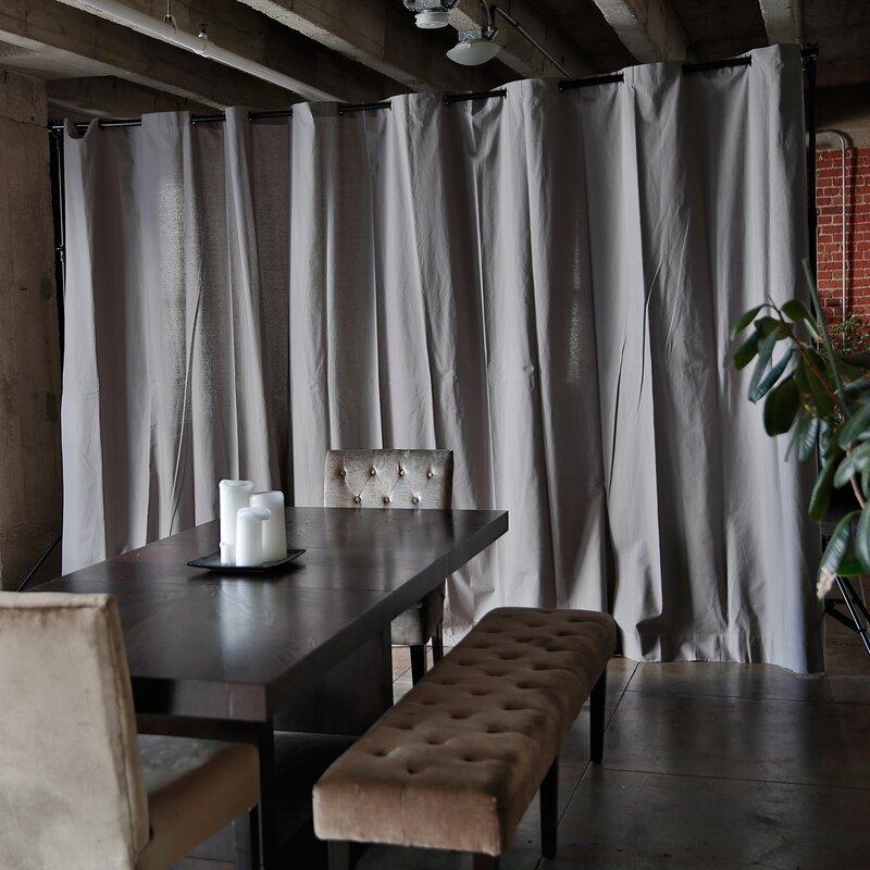 RoomDividersNow Muslin Freestanding Room Divider Kit & Reviews