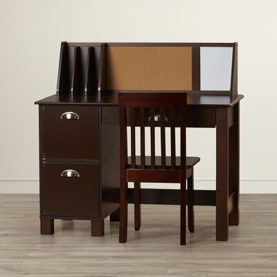 """35.75"""" Writing Desk With Hutch"""