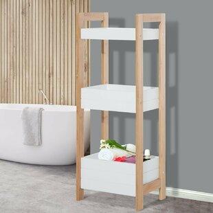 Lovely Bamboo 19.5 X 76cm Bathroom Shelf