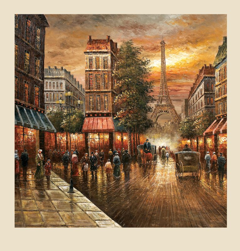 Darby Home Paris Nights Painting Canvas Amp Reviews