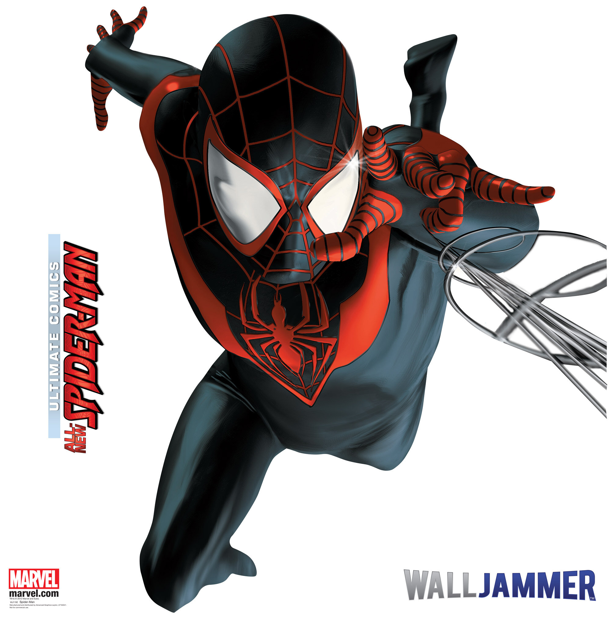 Ilustraciones sueltas chulas encontradas por el internete - Página 6 Spider-Man+Webslinger+Wall+Decal