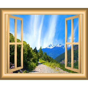 Mountain Window Wall Decal