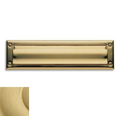 Baldwin 13 in x 3.6 Brass Mail Slot Color: Satin Brass