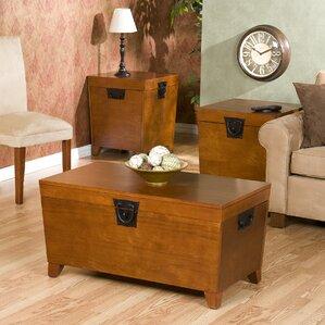 Harrower 3 Piece Trunk Coffee Table Set