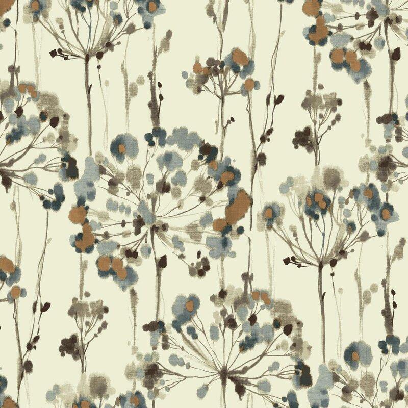 "Artisan 27' x 27"" Flourish Floral Wallpaper Roll"