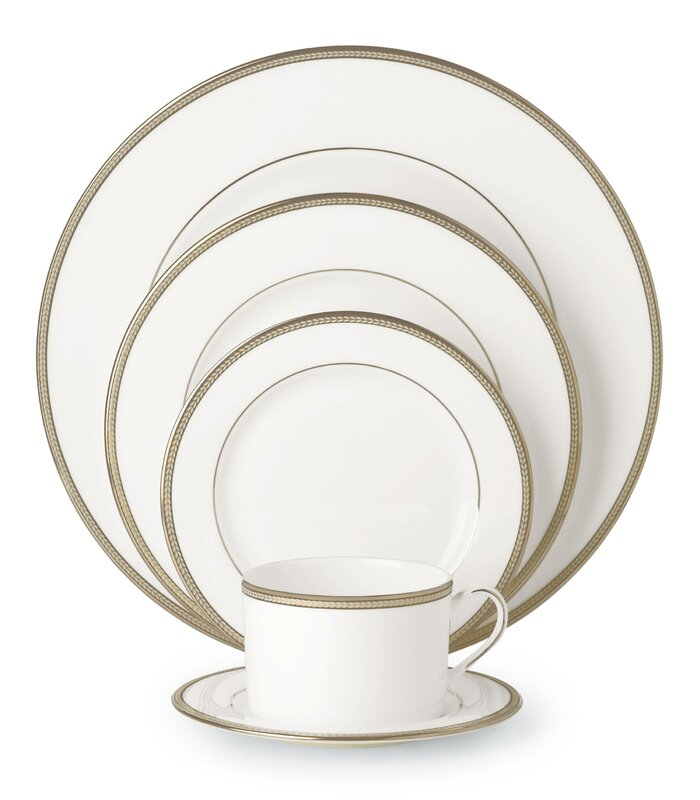 Sonora Knot Bone China 5 Piece Place Setting Service for 1  sc 1 st  Wayfair & kate spade new york Sonora Knot Bone China 5 Piece Place Setting ...