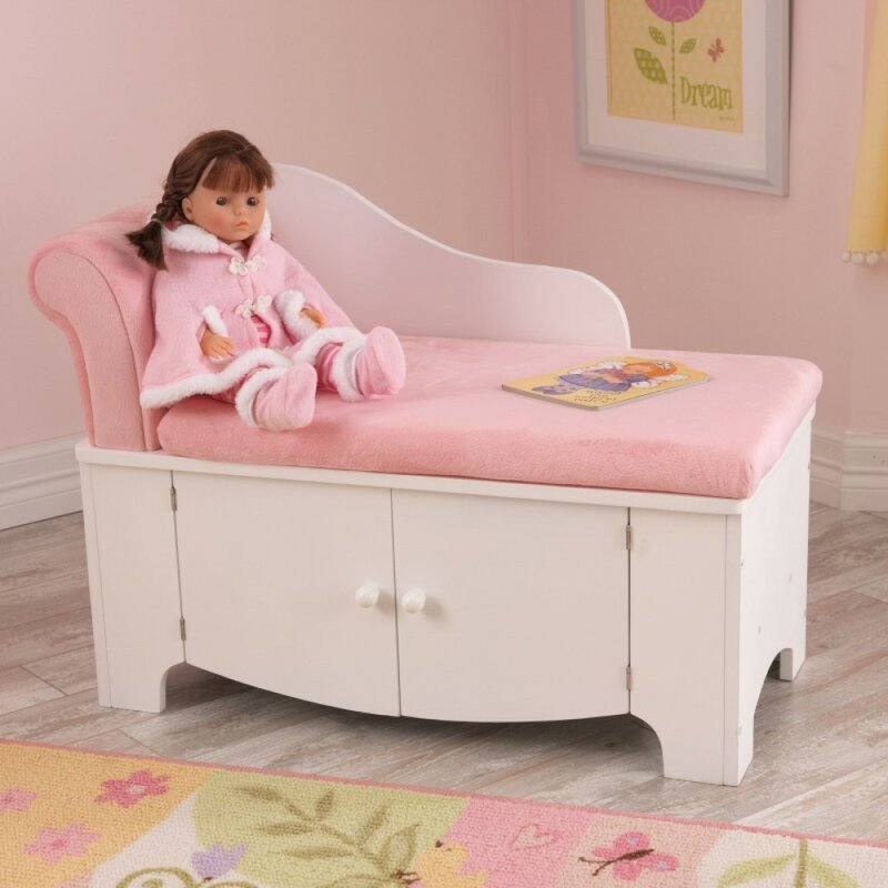Princess Kids Polyester Chaise Lounge : pink chaise - Sectionals, Sofas & Couches