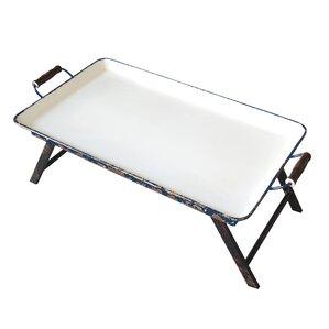 Staunton Metal Rectangular Tray Table