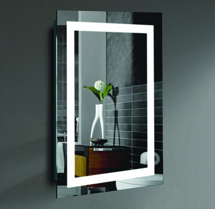 lighted wall mirror. rectangle led lighted wall mirror l