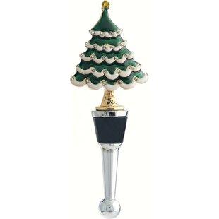gold christmas tree wine bottle stopper
