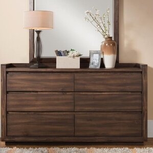 Worden 6 Double Drawer Dresser by Loon Peak