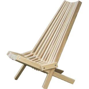 Solid Wood Folding Adirondack Chair