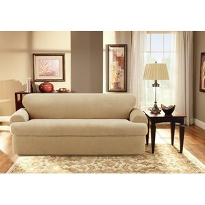 Stretch Pique T-Cushion Sofa Slipcover (Set of 2) by Sure Fit
