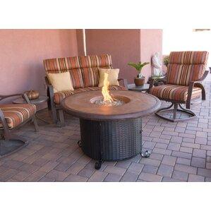 Faux Stone Propane Fire Pit Table