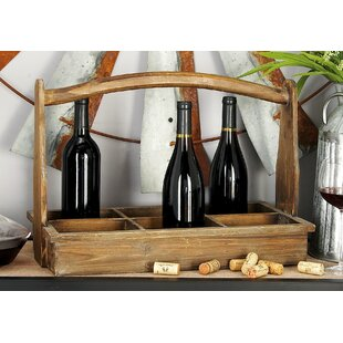 Crossett Wood 6 Bottle Tabletop Wine Bottle Rack