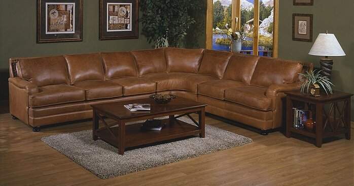 Omnia Leather Pantera Sectional Wayfair