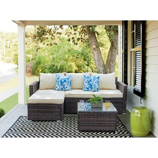 Birdsong 3 Piece Sectional Seating Group Set With Cushions