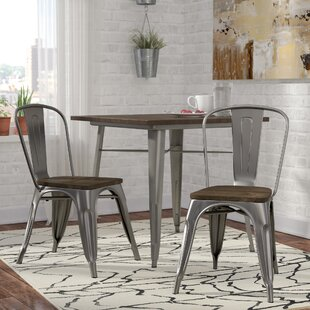 Industrial kitchen dining chairs youll love wayfair fortuna side chair set of 2 sxxofo