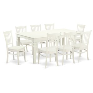 Beesley 9 Piece Contemporary Linen White Dining Set by Darby Home Co