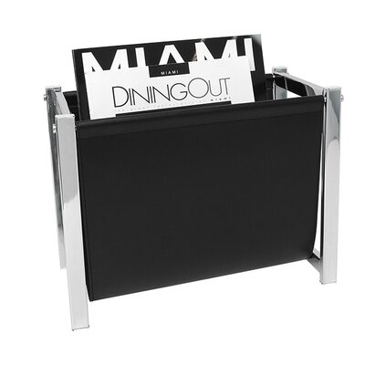 Front Of The House London Magazine Rack Color: Black