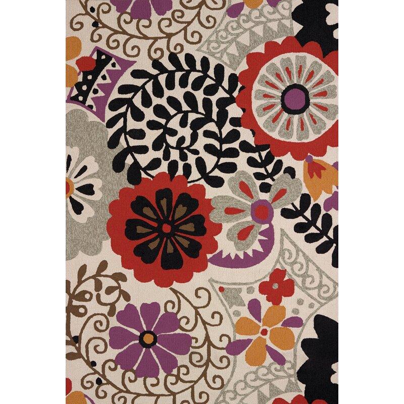 Ebern Designs Hibiscus Atrium Handmade Indooroutdoor Area Rug Wayfair