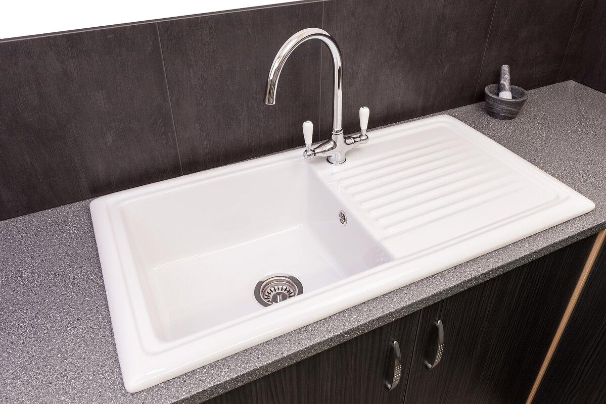 Reginox 101.5cm x 52.5cm Inset Kitchen Sink with Taps & Reviews ...