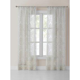 Nupur Damask Sheer Curtain Panel