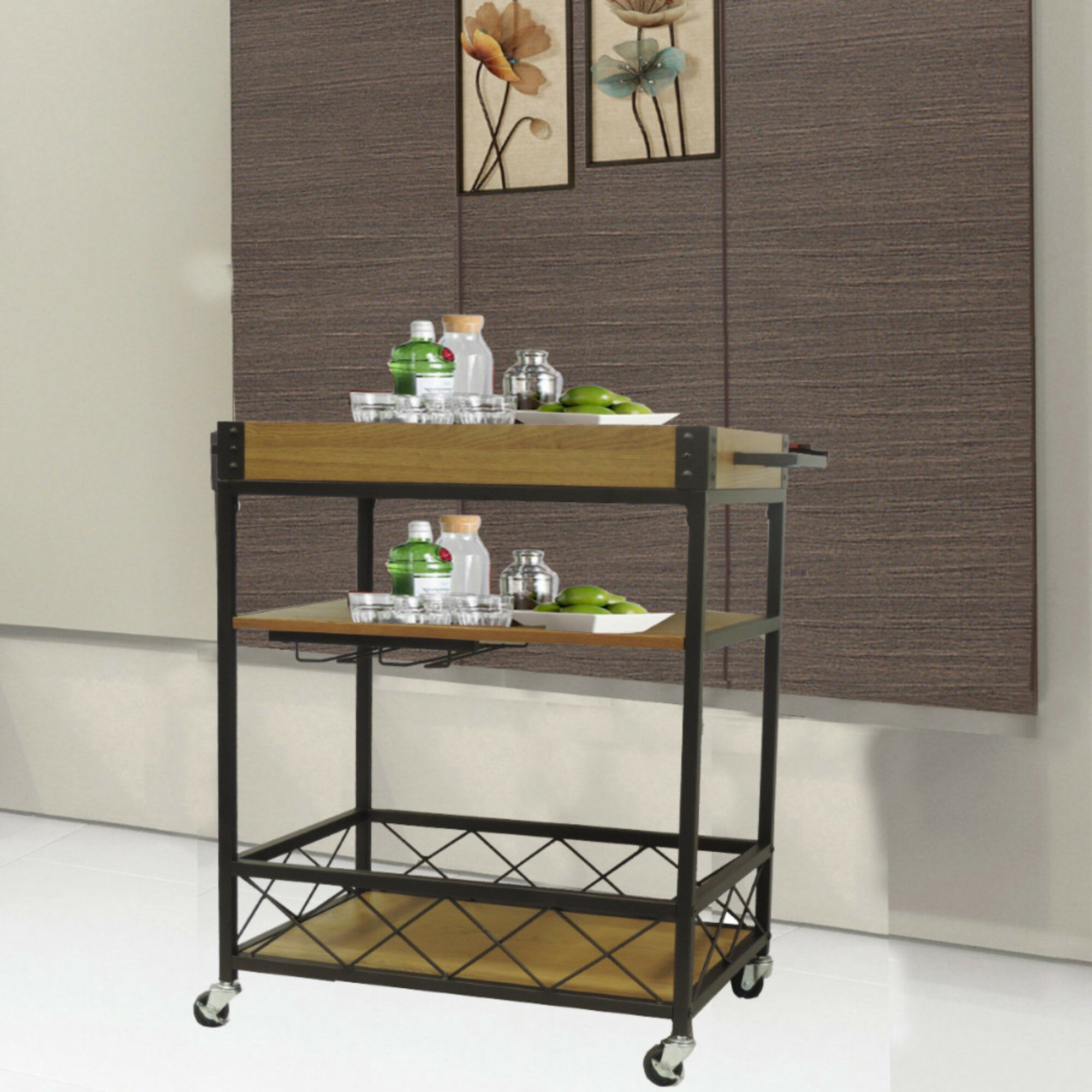 Charmant Williston Forge Booth Kitchen Mobile Serving Bar Cart U0026 Reviews | Wayfair