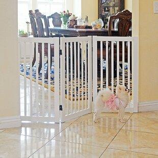 Fonzworth Freestanding Wood 360˚ Configurable Pet Gate