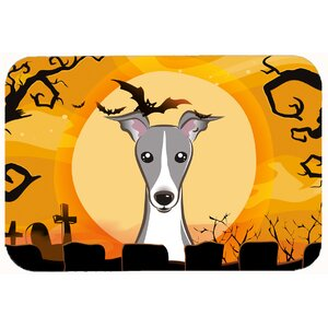 Halloween Italian Greyhound Kitchen/Bath Mat