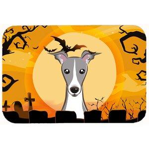 Halloween Italian Greyhound Kitchen/Bath Mat