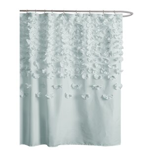 Blue Gray Silver Shower Curtains Youll Love
