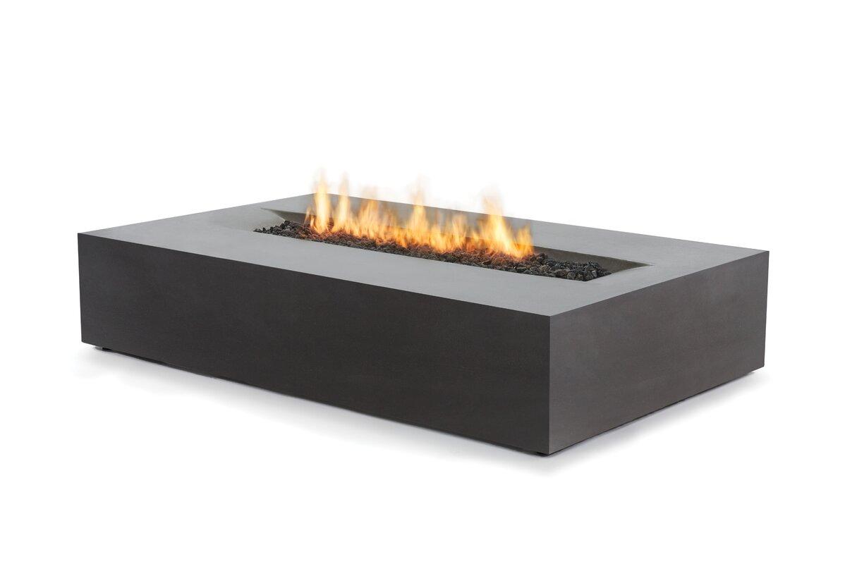 bjfs flo concrete natural gas propane fire pit table u0026 reviews