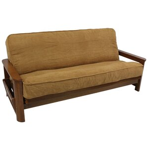 Premium Camel Box Cushion Futon Slipcover by Blazing Needles