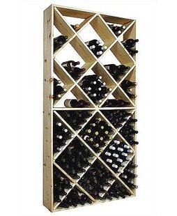 Country Pine 208 Bottle Floor Wine Rack