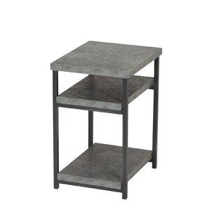 Vlad Slate Faux Concrete Low End Table by 17 Stories