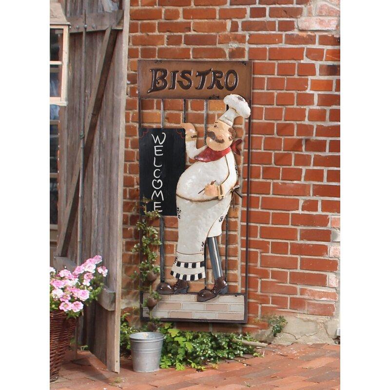 Fleur De Lis Living Traditional Friendly Bistro Chef Wall Decor ...