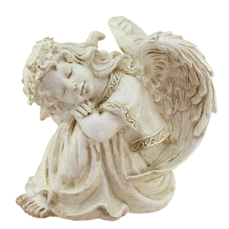 Resting Cherub Angel Outdoor Patio Garden Statue