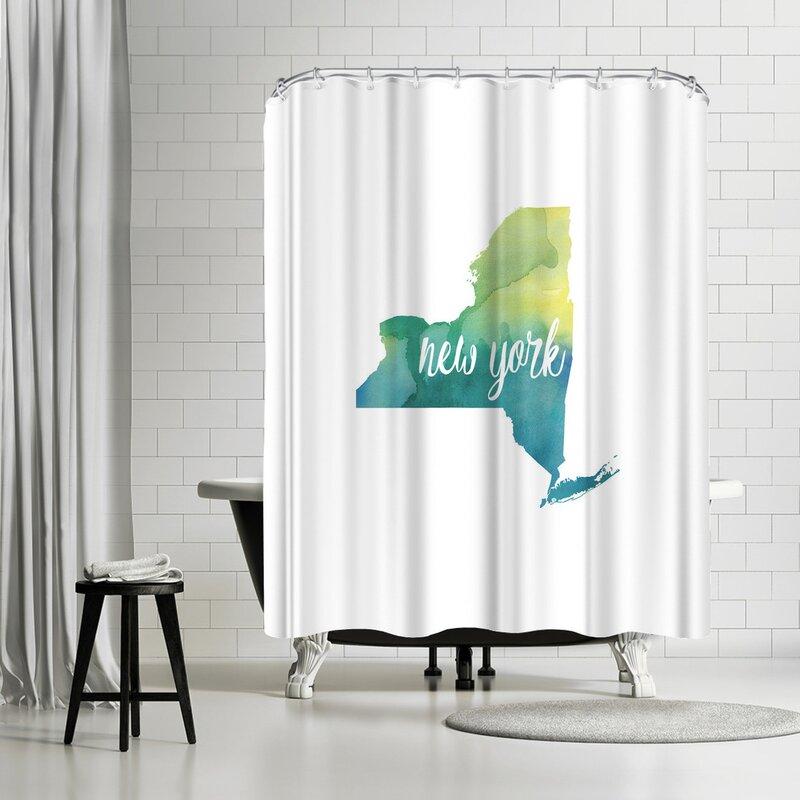 East Urban Home Paperfinch NY New York Shower Curtain   Wayfair