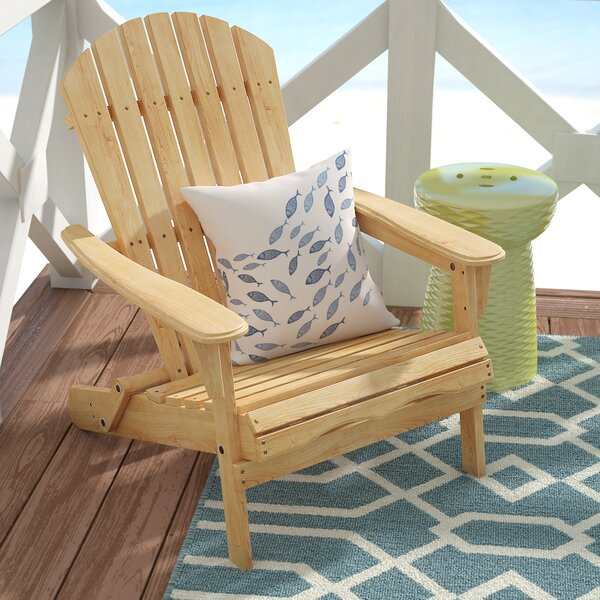 Beachcrest Home Cuyler Solid Wood Folding Adirondack Chair