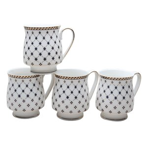 trellis 12 oz coffee mug set of 4