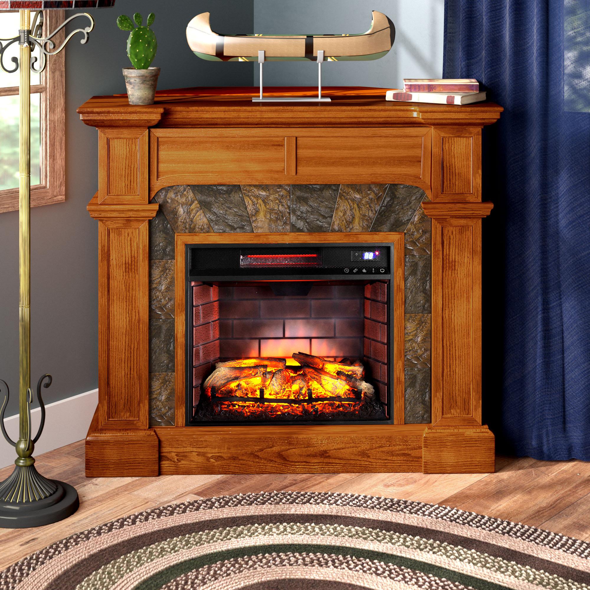 Electric Fireplace Corner Unit Wayfair Ca