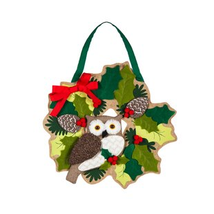 christmas owl door dcor