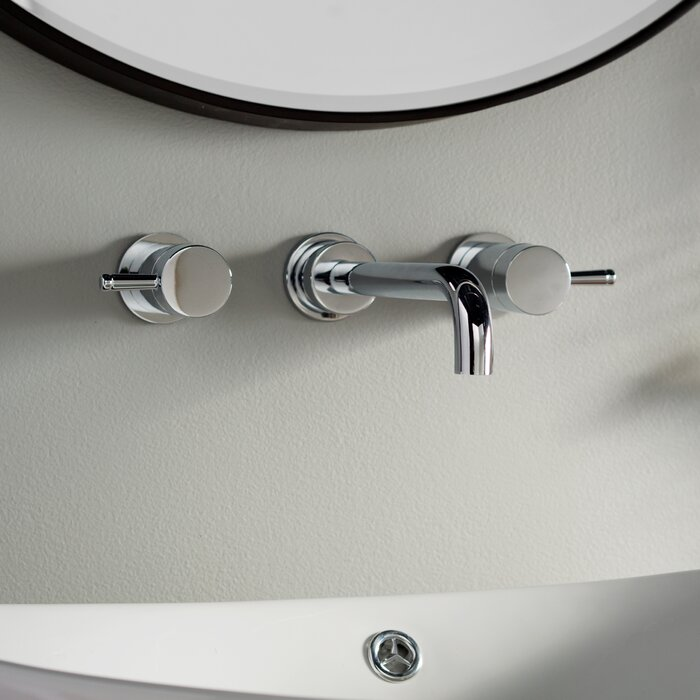 American Standard Serin Wall Mounted Bathroom Faucet With Drain
