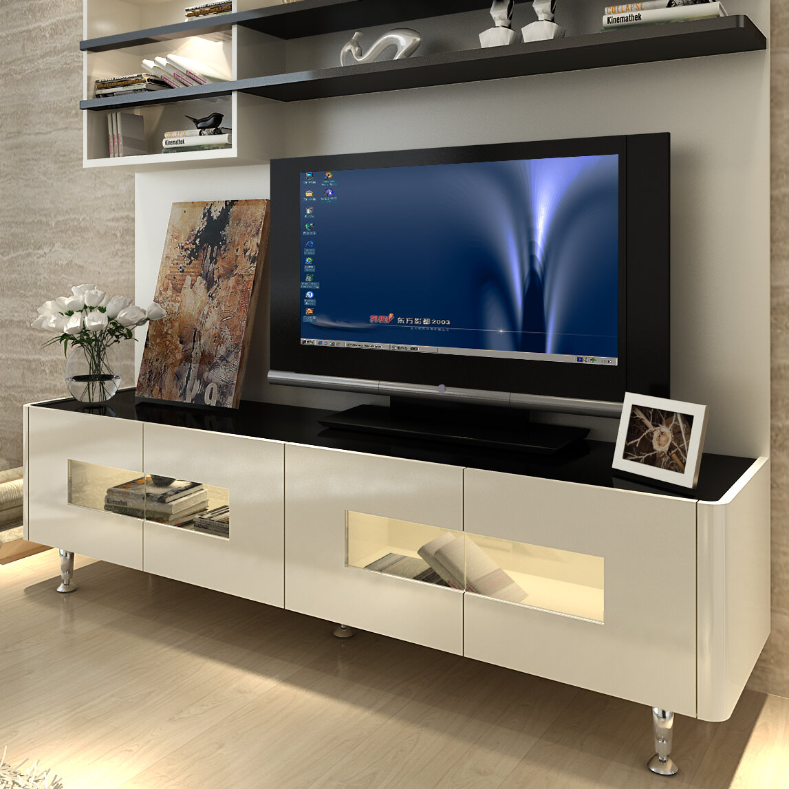 Orren Ellis Dian Entertainment Center For Tvs Up To 60 Reviews Wayfair