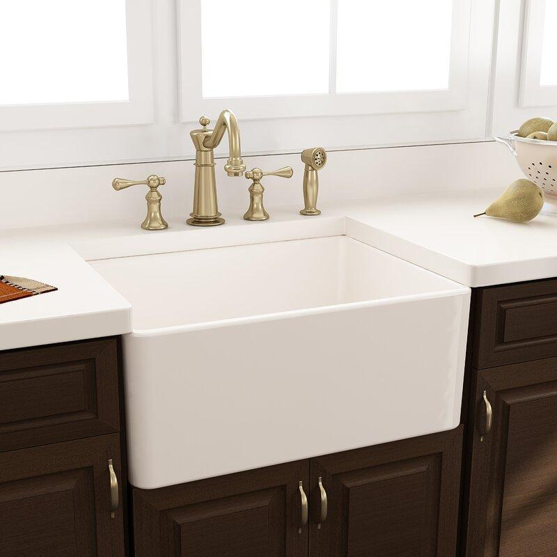 """Nantucket Sinks Cape 24"""" X 18"""" Farmhouse/Apron Kitchen Sink & Reviews"""