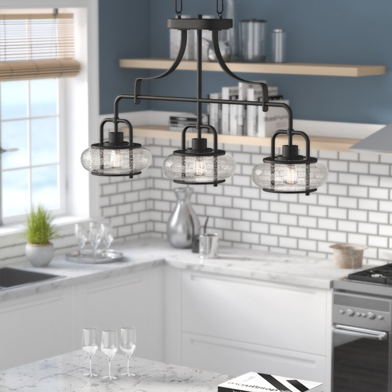 Beachcrest Home Braxton 3-Light Kitchen Island Pendant