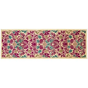 One Of A Kind Arts And Crafts Hand Knotted Pink Area Rug