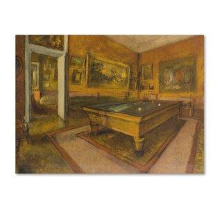 U0027Billiard Room At Menilhubertu0027 Print On Wrapped Canvas